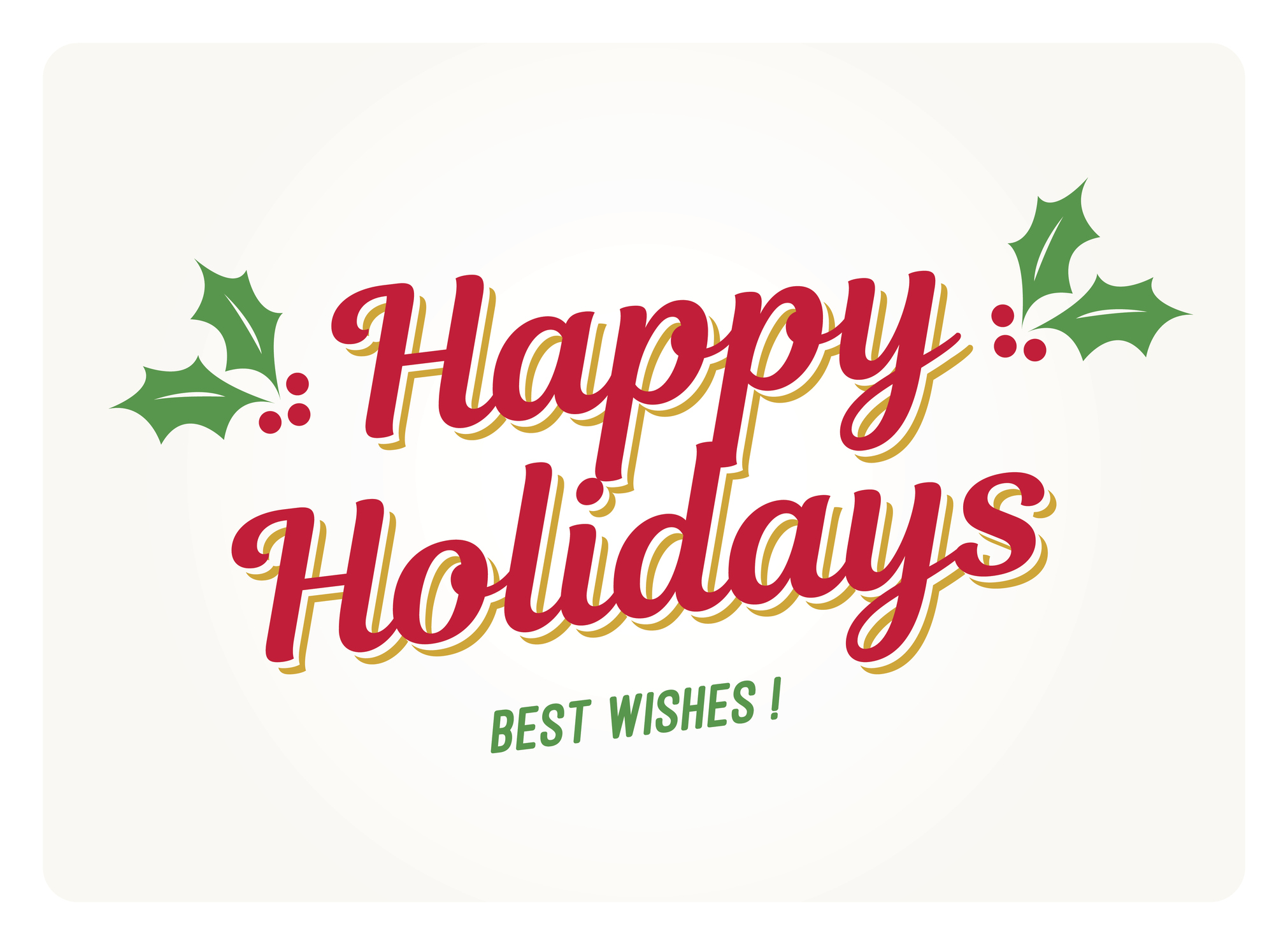 happy holidays card with mistletoes - Happy Holidays Card